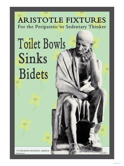 Aristotle Fixtures: For the Peripatetic or Sedentary Thinker--Art Print