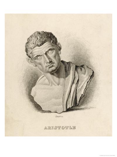 Aristotle Greek Philosopher: a Sculptured Head- Lizars-Giclee Print