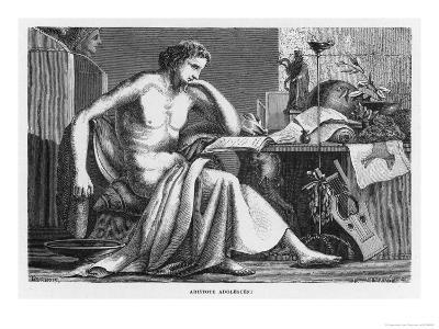 Aristotle Greek Philosopher as a Young Man Reading at His Desk-C. Laplante-Giclee Print