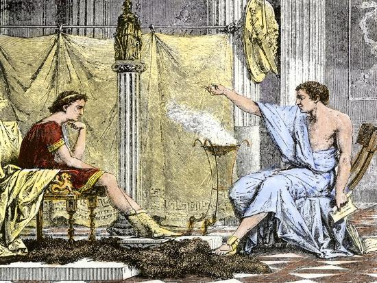 Aristotle Instructing the Young Alexander the Great--Giclee Print