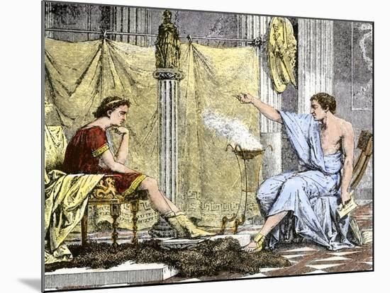 Aristotle Instructing the Young Alexander the Great--Mounted Giclee Print