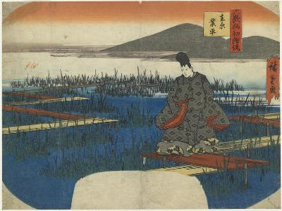 Ariwara No Narihira, Early 19th Century-Utagawa Hiroshige-Giclee Print