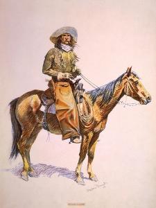 Arizona Cow-Boy on Horseback, Pastel Drawing by Frederic Remington, Ca, 1900