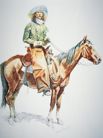Arizona Cowboy, 1901-Frederic Sackrider Remington-Giclee Print
