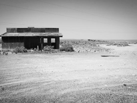 Arizona Deserted Building Architecture Landscape, Two Guns Ghost Town in  Black and White Photographic Print by Kevin Lange | Art com
