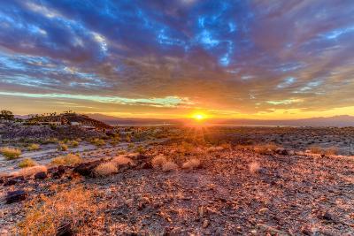 Arizona, Lake Havasu City. Sunset on Desert-Jaynes Gallery-Photographic Print