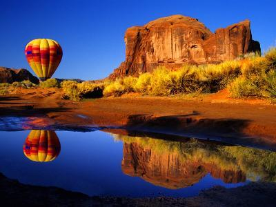 Arizona, Monument Valley, Hot Air Balloon-Russell Burden-Photographic Print