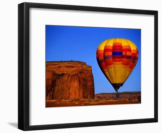 Arizona, Monument Valley, Hot Air Balloon-Russell Burden-Framed Photographic Print