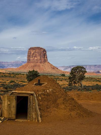 Arizona, Navajo Reservation, Monument Valley, Native American Hogan'S-Jerry Ginsberg-Photographic Print
