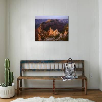 Arizona North Rim Sunrise Light Brightens Wotans Throne And