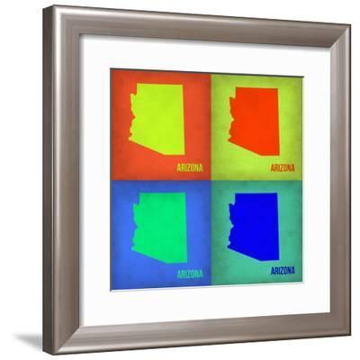 Arizona Pop Art Map 1-NaxArt-Framed Premium Giclee Print
