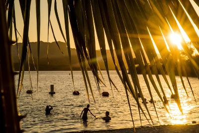 Arizona, Rte 66 Expedition, Cattail Cove State Park on Lake Havasu at Sunset-Alison Jones-Photographic Print