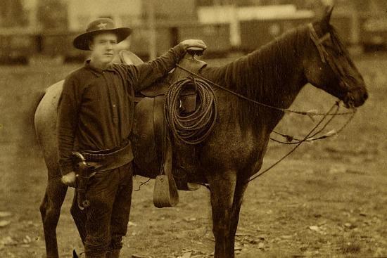 Arizona Sheriff With Revolver Ca 1880s-1890s.-J.C. Burge-Art Print