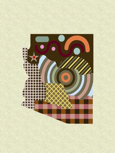 Arizona State Map-Lanre Adefioye-Giclee Print
