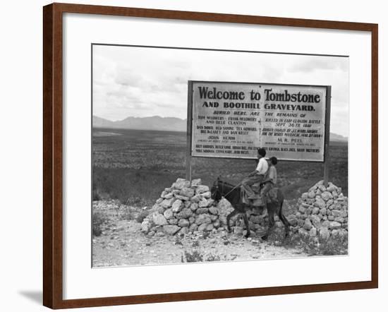 Arizona: Tombstone, 1937-Dorothea Lange-Framed Giclee Print
