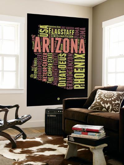 Arizona Word Cloud 1-NaxArt-Wall Mural