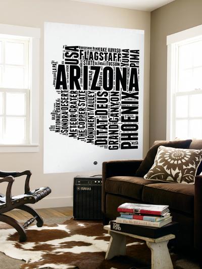 Arizona Word Cloud 2-NaxArt-Wall Mural