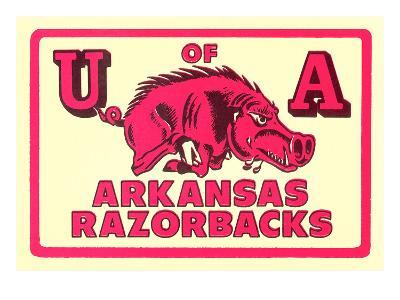 Arkansas Razorback Mascot--Art Print