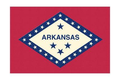 Arkansas State Flag-Lantern Press-Art Print
