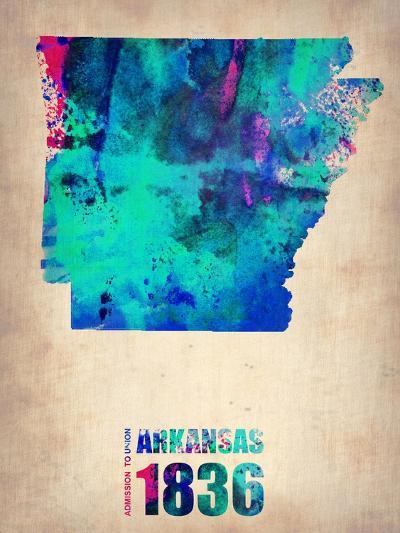 Arkansas Watercolor Map-NaxArt-Art Print