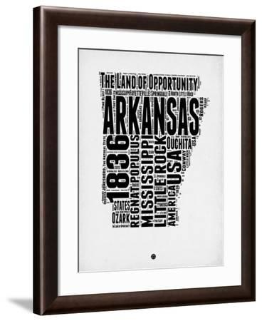 Arkansas Word Cloud 2-NaxArt-Framed Art Print