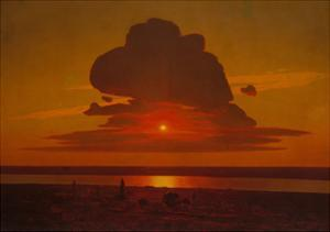Red Sunset on the Dnieper, 1905-1908 by Arkhip Ivanovich Kuindzhi