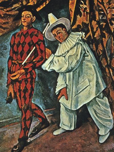 Arlequin Et Pierrot, 1888-Paul C?zanne-Giclee Print
