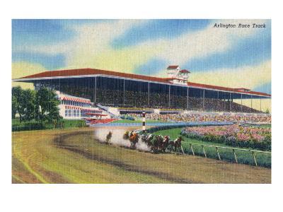 Arlington Heights, Illinois - Horse Race at Arlington Race Track-Lantern Press-Art Print