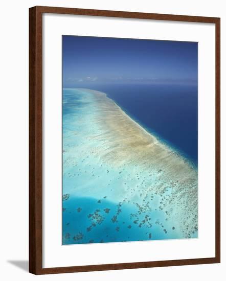 Arlington Reef, Great Barrier Reef Marine Park, North Queensland, Australia-David Wall-Framed Photographic Print