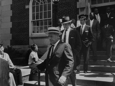 Arlington School Board Members Leaving a Federal Court Re: School Integration-Ed Clark-Photographic Print