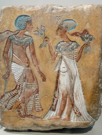 Armana Style Relief of a Royal Couple--Photographic Print