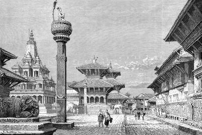 Temples at Patan, Nepal, 1895