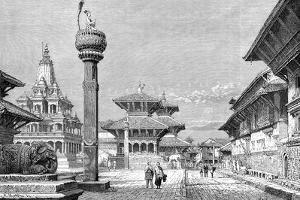 Temples at Patan, Nepal, 1895 by Armand Kohl