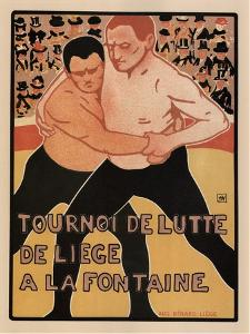 Wrestling Tournament, Liège, 1899 by Armand Rassenfosse