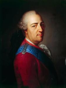 Portrait of the King Louis XV (1710-177) by Armand-Vincent de Montpetit
