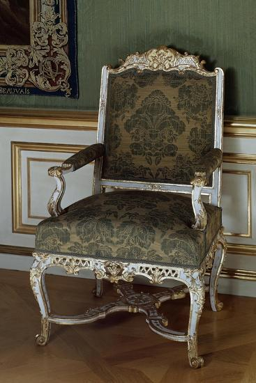Armchair, Painted and Gilded Carved Wood, Southern Germany--Giclee Print