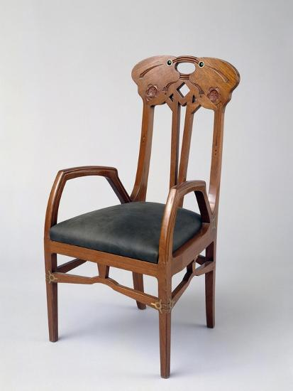 Armchair, Part of a Room Exhibited in Milan in 1906-Eugenio Quarti-Giclee Print