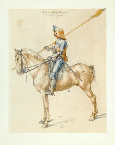 Armed Cavalier-Albrecht D?rer-Collectable Print