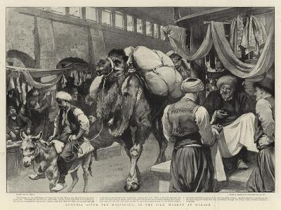 Armenia after the Massacres, in the Silk Market at Marash-William Small-Giclee Print