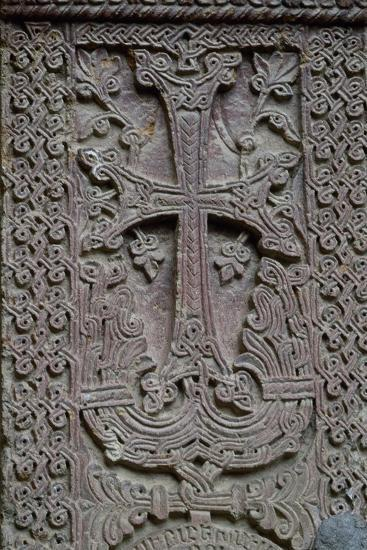 Armenia, Khachar or Historiated Tombstone from Monastery of Geghard--Photographic Print