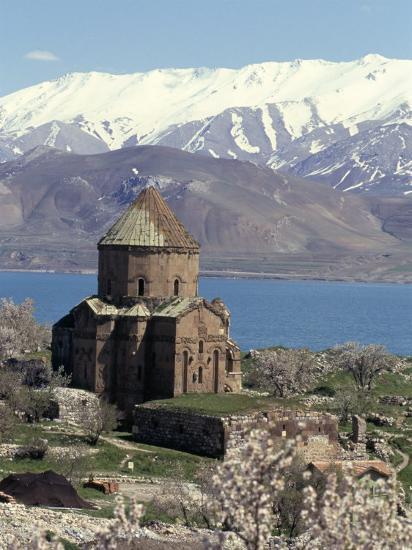 Armenian Church of Holy Cross, Akdamar Island, Lake Van, Anatolia, Turkey-Adam Woolfitt-Photographic Print