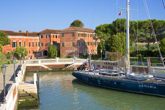 Armenian Monastery, San Lazzaro Degli Armeni, and Armenian Sail Boat, Venice, Veneto, Italy-Guy Thouvenin-Photographic Print