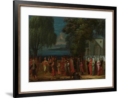 Armenian Wedding, 1720-37-Jean Baptiste Vanmour-Framed Giclee Print