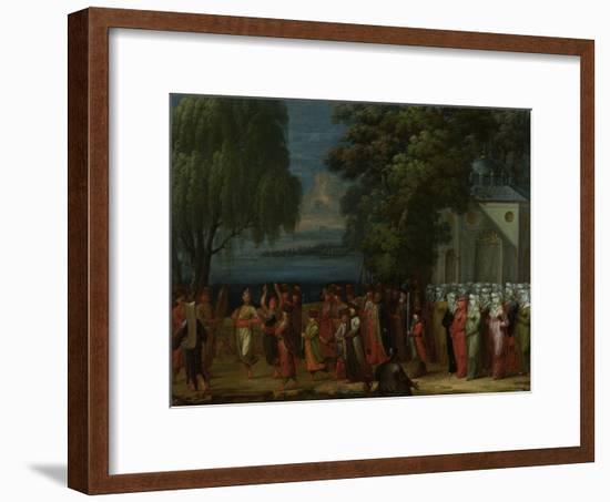 Armenian Wedding-Jean Baptiste Vanmour-Framed Art Print