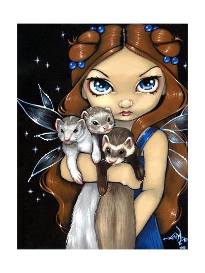 Armful of Ferrets - Ferret Art-Jasmine Becket-Griffith-Art Print