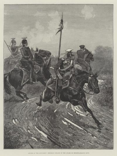 Armies of the Continent, Prussian Uhlans of the Guard on Reconnaissance Duty-Richard Caton Woodville II-Giclee Print