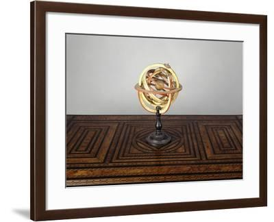 Armillary Sphere, Wood and Paper, Italy--Framed Giclee Print