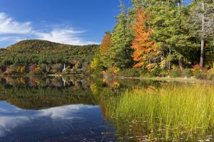 Autumn in Crystal Lake with Eaton, New Hampshire by Armin Mathis