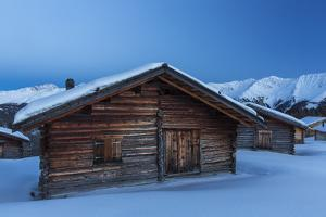 Blue Hour on Wiesner Alp Near Davos by Armin Mathis