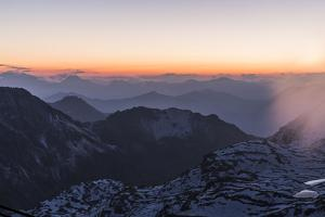 Daybreak on the Rothorn at Lenzerheide by Armin Mathis